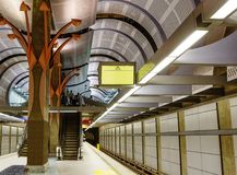 Los Angeles, USA, 2016:02:24 metro Station Hollywood line Stock Images