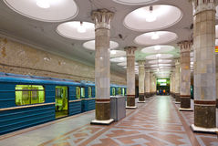 Interior of  metro station  in Moscow Royalty Free Stock Photos