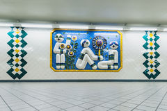 Interior of metro station in Stockholm, Sweden Royalty Free Stock Image