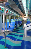 Interior of metro train  in Dubai UAE Royalty Free Stock Photo