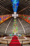 Interior of the metropolitan cathedral. The church is dedicated to Saint Sebastian, the patron saint of Rio de Janeiro Royalty Free Stock Images