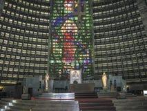 Interior of Metropolitan cathedral in Rio de Janeiro Stock Image