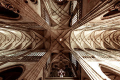 Interior of the Metropolitan Cathedral of Saints Vitus, Wenceslaus and Adalbert. Prague, Czech Republic.  Royalty Free Stock Image
