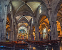 Interior of Metropolitan Cathedral in Valencia Stock Photography