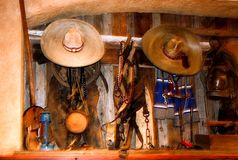 Interior of mexican a restaurant stock photo