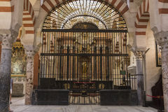 Interior of Mezquita-Catedral, Chapel of la sant ines, Cordoba. Stock Images