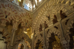 Interior of Mezquita-Catedral, Cordoba, Spain Stock Photos