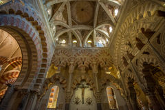 Interior of Mezquita-Catedral, Cordoba, Spain Stock Photography