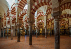 Interior of Mezquita-Catedral in Cordoba, Spain Stock Photo