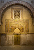Interior of Mezquita-Catedral in Cordoba, Spain Royalty Free Stock Photo