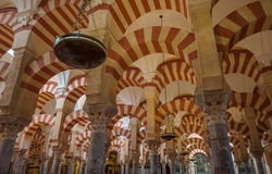 Interior of Mezquita-Catedral, CORDOBA, SPAIN. CORDOBA, SPAIN: Interior of Mezquita-Catedral, a medieval Islamic mosque that was converted into a Catholic Stock Photography