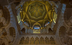 Interior of Mezquita-Catedral, Royalty Free Stock Photo
