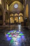 Interior of Mezquita-Catedral, Reflection on the floor of staine Royalty Free Stock Image