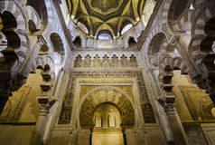 Interior of Mezquita-Catedralin Cordoba Royalty Free Stock Image