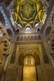Interior Mezquita in Cordoba. Andalusia, Spain stock image