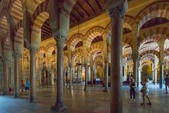 Interior Mezquita in Cordoba. Andalusia, Spain stock images
