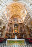 Interior Mezquita in Cordoba royalty free stock images
