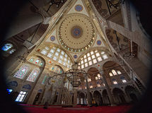 Interior of Mihrimah Sultan Mosque in Istanbul Stock Photos