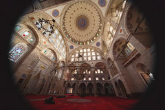 Interior of Mihrimah Sultan Mosque in Istanbul Stock Image