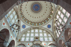 Interior of Mihrimah Sultan Mosque Stock Photography