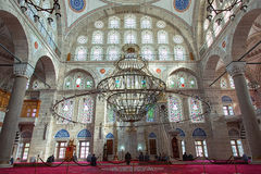 Interior of Mihrimah Sultan Mosque Stock Photos