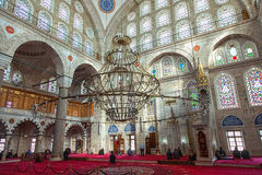 Interior of Mihrimah Sultan Mosque Royalty Free Stock Images