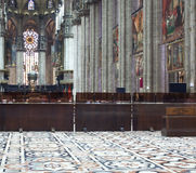 Interior of Milan cathedral Stock Images