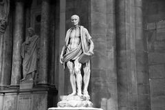 Milan, Italy - September 05, 2017: Statue of Saint Bartholomew the apostle of Jesus Christ, by architect Marco d`Agrate, 1562. Stock Photo