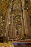 Interior of the Milan Cathedral Duomo di Milano. In Milan, Italy Royalty Free Stock Photos