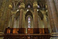 Interior of the Milan Cathedral Duomo di Milano. In Milan, Italy Royalty Free Stock Image