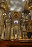 Interior of the Milan Cathedral Duomo di Milano. In Milan, Italy Stock Images