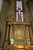 Interior of the Milan Cathedral Duomo di Milano. In Milan, Italy Stock Photo