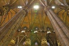 Interior of the Milan Cathedral Duomo di Milano. In Milan, Italy Stock Photos