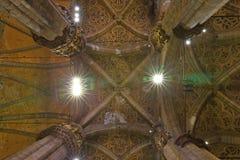 Interior of the Milan Cathedral Duomo di Milano. In Milan, Italy Royalty Free Stock Images