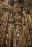 Interior at the Milan cathedral Royalty Free Stock Photography