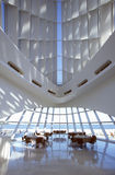 Interior of the Milwaukee Art Museum on Lake Michigan, Milwaukee, WI Royalty Free Stock Image