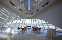 Interior of the Milwaukee Art Museum on Lake Michigan, Milwaukee, WI Royalty Free Stock Photo