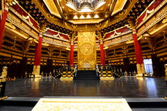 Interior of the Ming temple. Luoyang, Henan province. China stock photography