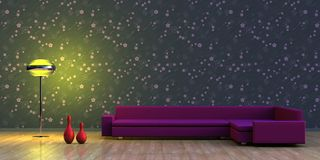 Interior minimalista Imagens de Stock
