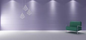 Interior minimalista del sitio Imágenes de archivo libres de regalías