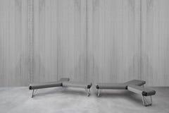 Interior minimalista moderno con el asiento imagen de archivo