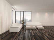 Interior minimalista moderno del salón Imagen de archivo libre de regalías