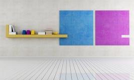 Interior minimalista vazio ilustração stock