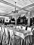 Interior Mirada artística en blanco y negro Fotografía de archivo