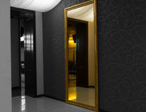 Interior mirror with reflection, selective color Royalty Free Stock Photos