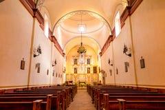 Interior of Mission San Jose stock image