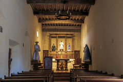 Interior of Mission San Juan Capistrano Royalty Free Stock Photography