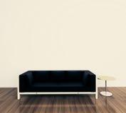 Interior mínimo con el solo sofá Foto de archivo