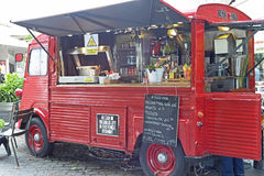 Interior of mobile cafe Royalty Free Stock Images