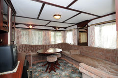 Interior of mobile camper royalty free stock photos